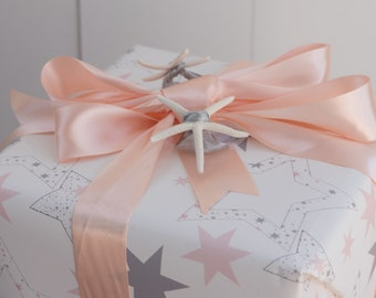 Gift Wrap 6 foot rolls of Shabby Chic Stars for January