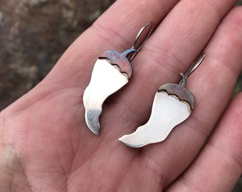 Awesome Chile Pepper Jalapeño Sterling Silver Earrings