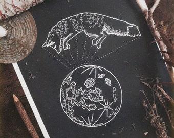 Moon Fox, print A3, A4