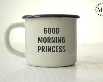 Mug For Her / Gift For Her / Enamel Coffee Mug / Custom Enamel Mug / Personalized Cup / Gift Mug For Her / Coffee Mug Gift / Coffee Lovers