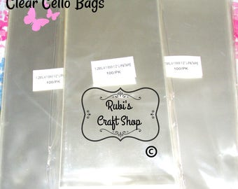 100 Clear Cello Bags 4 1/8 X 9.5-Resealable Clear Bags-Clear Packaging Bags-Lip & Tape Self Seal-Self Adhesive-Party Favor Bags - Favor Bags
