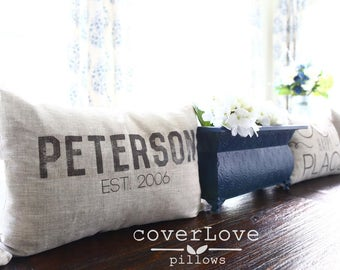 "mothers day gift, name pillow, wedding gift, family pillow, name pillow, personalized pillow ""The Maxwell"""