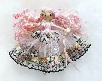 Fairy doll, whimsical doll, fairytale doll, ornamental doll, the fairy trail, decorative doll, girls gift, birthday gift