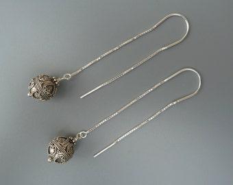Sterling Threader Earrings, Silver Threader Earrings, Lightweight Earrings, Silver Linear Earrings, Modern And Minimal Earrings,Gift For Her