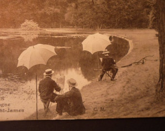 Vintage Postcard of Paris - Bois de Boulogne - Early 20th century original - JVoyage