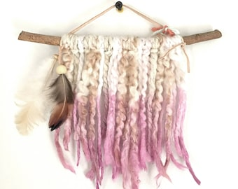 Rose Quartz Dream Catcher Tapestry Mini