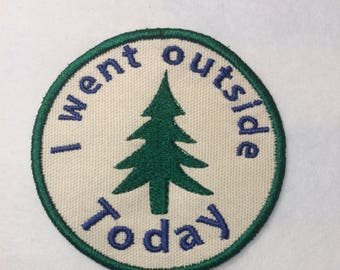 Adult Merit Badge I Went Outside Today Badge/Patch/Appliqué embroidery pattern