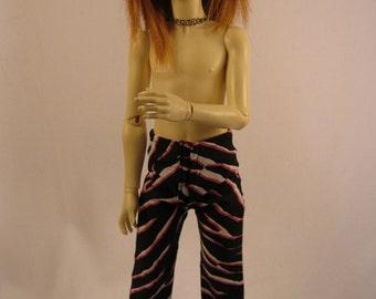Slim MSD Boy Black/Pink Zebra Pants CLEARANCE Price