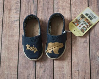 Baby Bear Hand Painted Toddler Toms