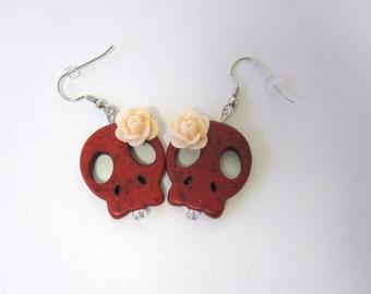 Day Of The Dead Earrings Sugar Skull Jewelry