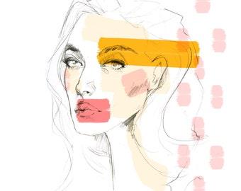 In Pink: Fashion Illustration/ Art Print