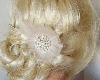 Fascinator, Fascinator, Haarspange Hochzeit, Hochzeit Haarschmuck, Vintage-Stil, Braut Fascinator, Feder-Haarspange, Hochzeit Brautkamm