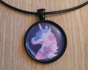 Unicorn Necklace, Galaxy, Unicorn, Pendant, Jewellery, Necklace, Gift, Girls, Emo,