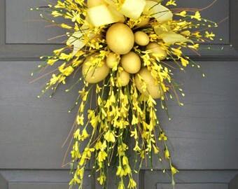 Forsythia & Easter Egg Wreath