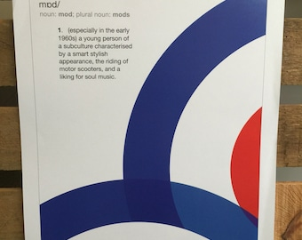 We are the MODS A3 print on 300gsm art card