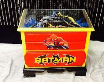 Batman - Kids room decor - super hero decor - boys room decor - tables for boys - man cave - man cave decor - childrens furniture - kids