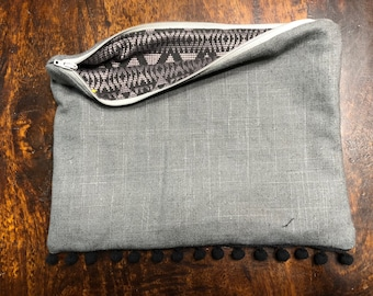 Gray Zipper Bag