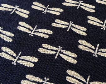 Japanese Indigo Dragonfly fabric - Sevenberry - by 50cm (110 x)