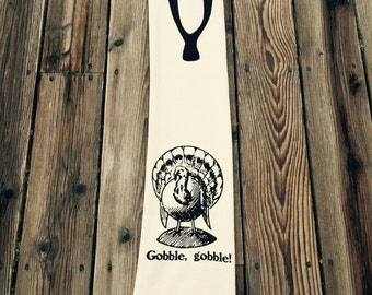 Gobble, Gobble and Wishbone Dish Towel