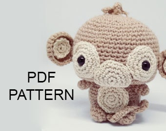 PATTERN Monkey amigurumi pattern pdf crochet doll,amigurumi pattern monkey stuffed animal