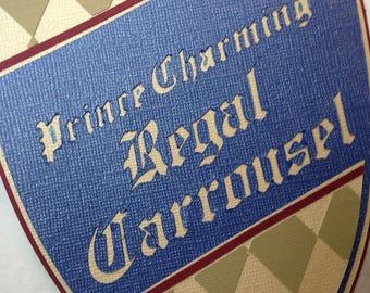 Disney - Prince Charming Regal Carrousel - Die Cut Paper Pieced Title for Scrapbook Pages - Magic Kingdom - Carrousel - Fantasyland - Castle