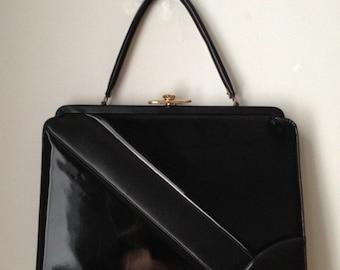 Black Hard Body Handbag 1980s