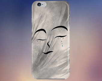 Cry abstract tears phone case for apple iphone, samsung galaxy, and google pixel