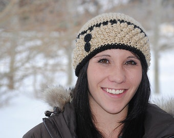 Instant Download - CROCHET PATTERN PDF - Noelle Beanie - Permission To Sell Finished Items