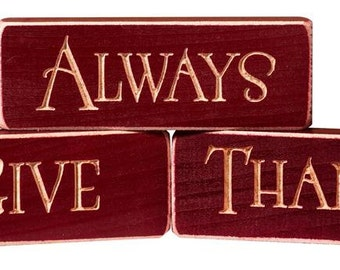 Always Give Thanks Inspirational