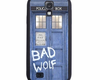 Doctor Who Tardis BAD WOLF case For The Samsung Galaxy S4, S5, S6, S6 Edge, S7, S7 Edge, S8 or S8 Plus.