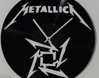 Metallica, wall clock, hardrock, vinyl clock, vinyl record, painting, painted