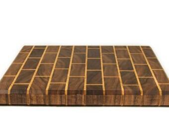 Custom Walnut and Oak Cutting Board