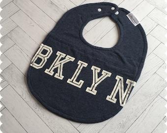 Brooklyn New York Baby Bib, Recycled T-Shirt Baby Bib, New Baby Gift, Baby Shower Gift, Brooklyn Baby