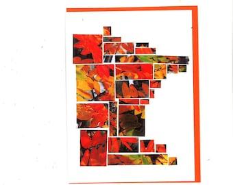 Minnesota Leaves Mosaic Card