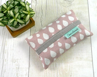 Pink tissue pouch Pocket tissue holder Travel tissue case Tissue cozy Gift for mom Teacher gift