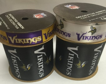 NFL Minnesota Vikings, 4-pack of Ribbon, Licensed NFL Offray Ribbon