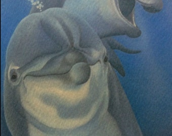 Come Play the dolphin painting