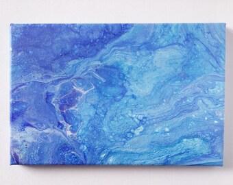 "Abstract Art Acrylic Painting Original | ""Underwater"" 20cm x 30cm Canvas"
