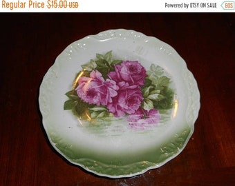 Antique & rare . Rose Reflections Three Crown China early 1900's collectors plate