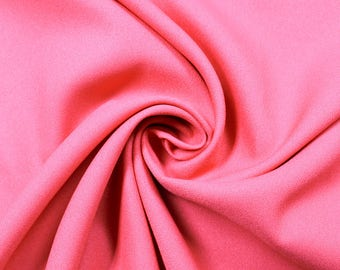 """Coral 60"""" Poly Crepe Fabric by the Yard - Style 3060"""