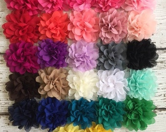 3.75 inch Chrysanthemum Fabric Flower Heads- You Choose the Color and Quantity - 3.75 Mum Flowers