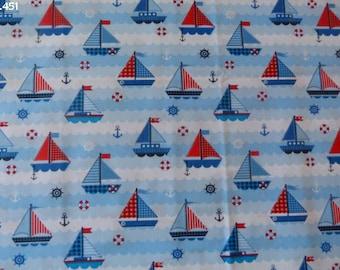 Fabric ships C451 coupon 34x50cm