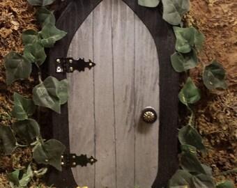A Gnome door / Fairy door that OPENS. 9.5 inch.