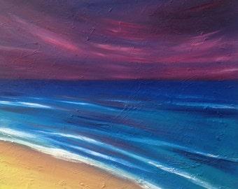 Purple Sky at Beach