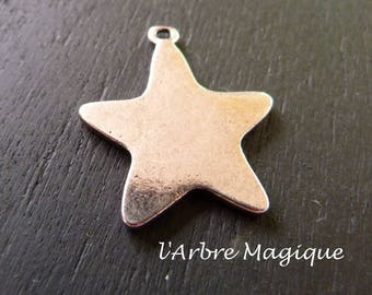 10 charms silver metal star pendant
