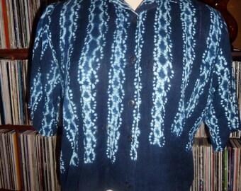 vintage cropped shibori blouse M