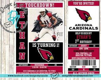 Arizona Cardinals Football Invitation