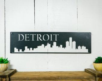 Detroit Skyline Steel Art