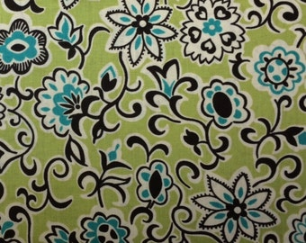 FreeSpirit FLORAL PAISLEY (Mossy) 100% Cotton Premium Fabric for Quilting - sold by 1/2 yard