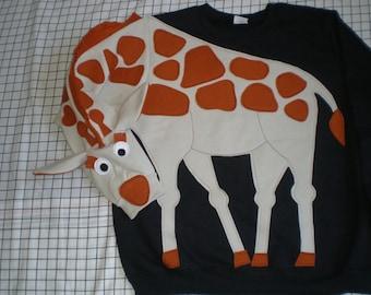 GIRAFFE sweatshirt, giraffe sweater, giraffe jumper Custom to your size and  color